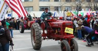 Wisconsin farmers protesting Gov. Scott Walker's budget proposals. Jonathan Bloy via Grist.