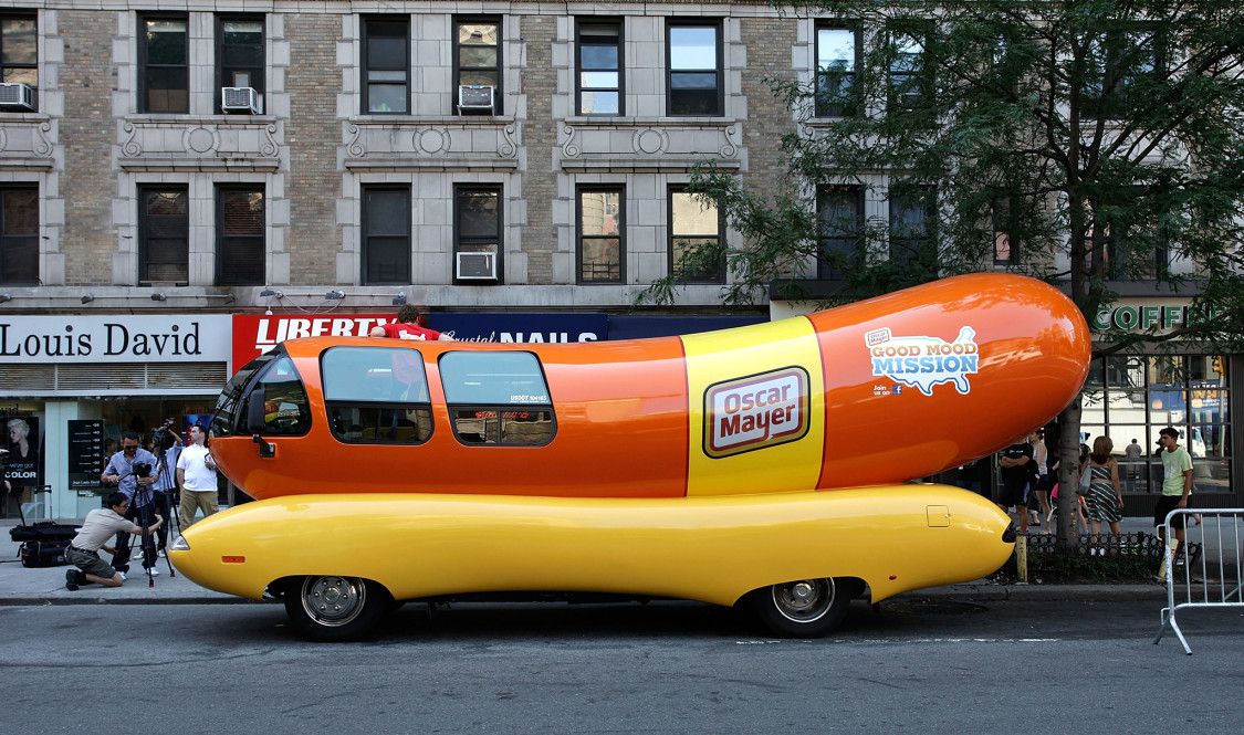 NEW YORK, NY - JULY 18:  Atmosphere at the Oscar Mayer Wienermoblie 75th Birthday celebration at West 75th Street on July 18, 2011 in New York City.  (Photo by John Lamparski/WireImage)